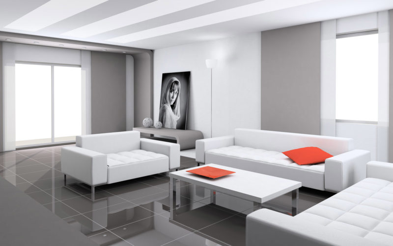 гостиная в стиле хай тек (60)