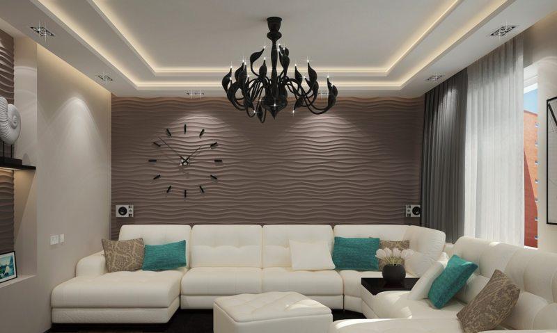 гостиная в стиле хай тек (66)