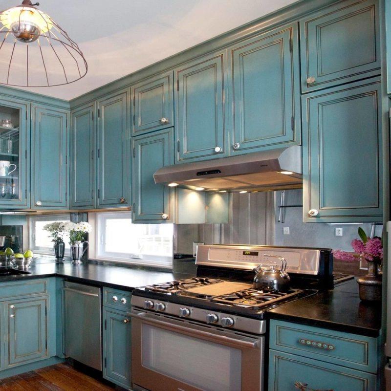 Кухня бирюзового цвета - 65 фото вариантов оформления и ... Бирюзовая Гостиная