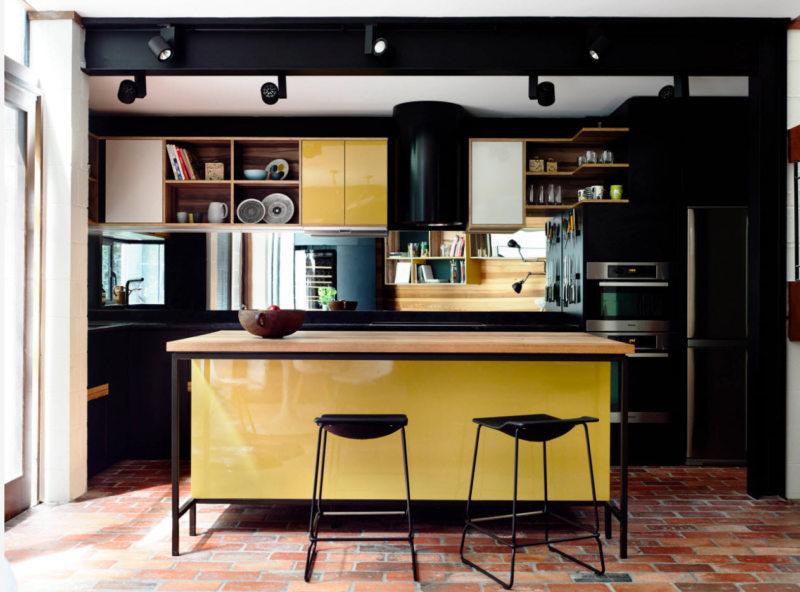 кухня лимонного цвета (14)