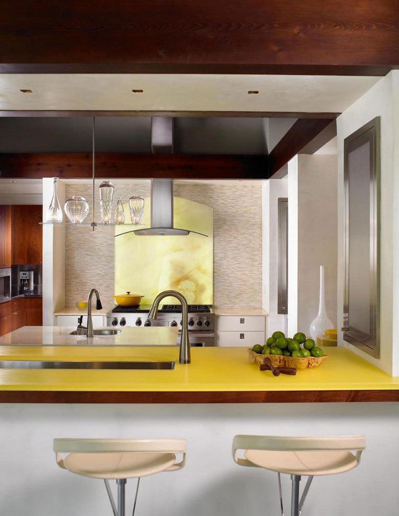 кухня лимонного цвета (17)