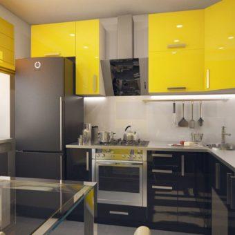 Кухня лимонного цвета — варианты идеального сочетания +65 фото дизайна