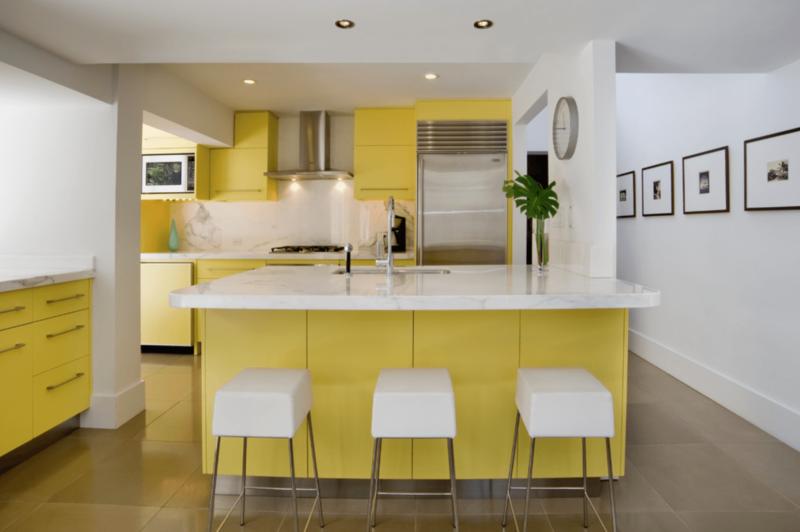 кухня лимонного цвета (2)