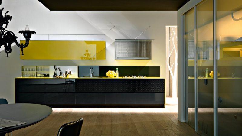 кухня лимонного цвета (26)