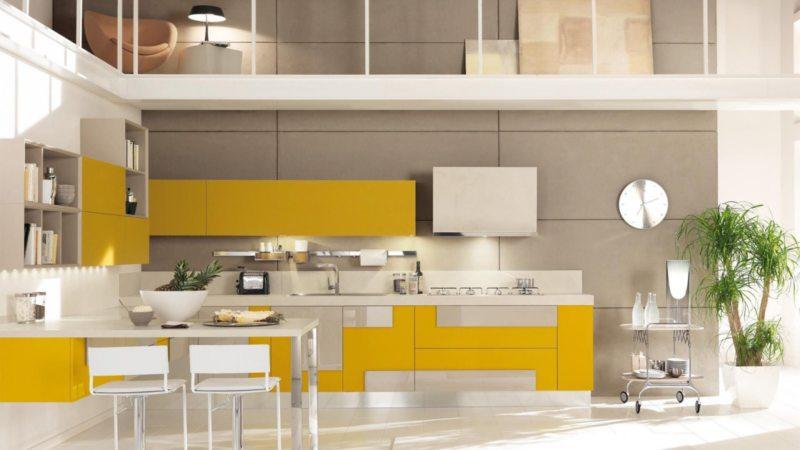 кухня лимонного цвета (27)
