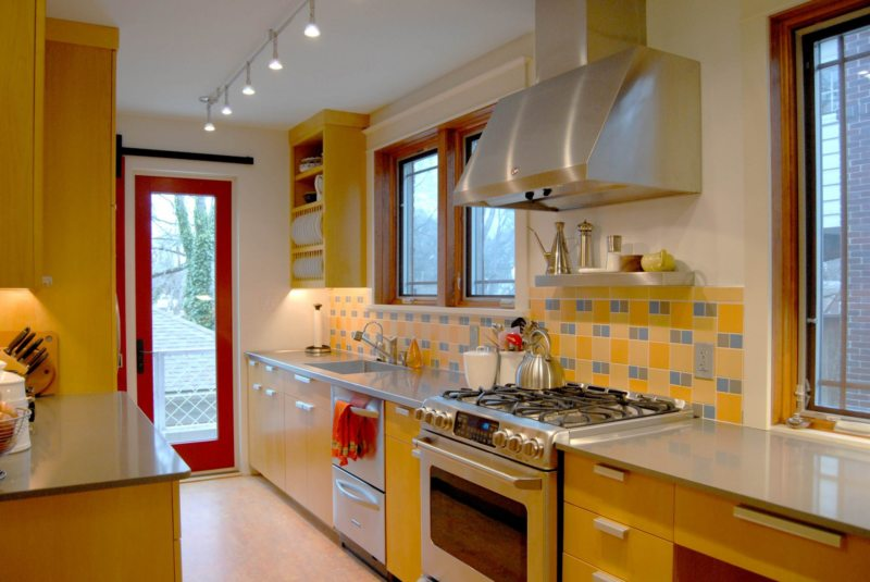 кухня лимонного цвета (28)