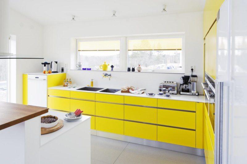 кухня лимонного цвета (29)