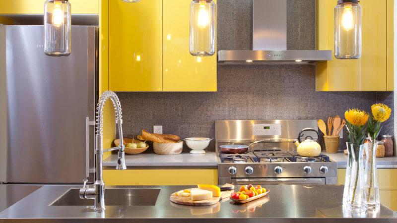 кухня лимонного цвета (3)