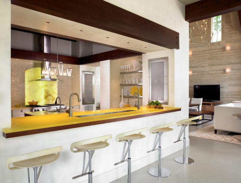 кухня лимонного цвета (31)