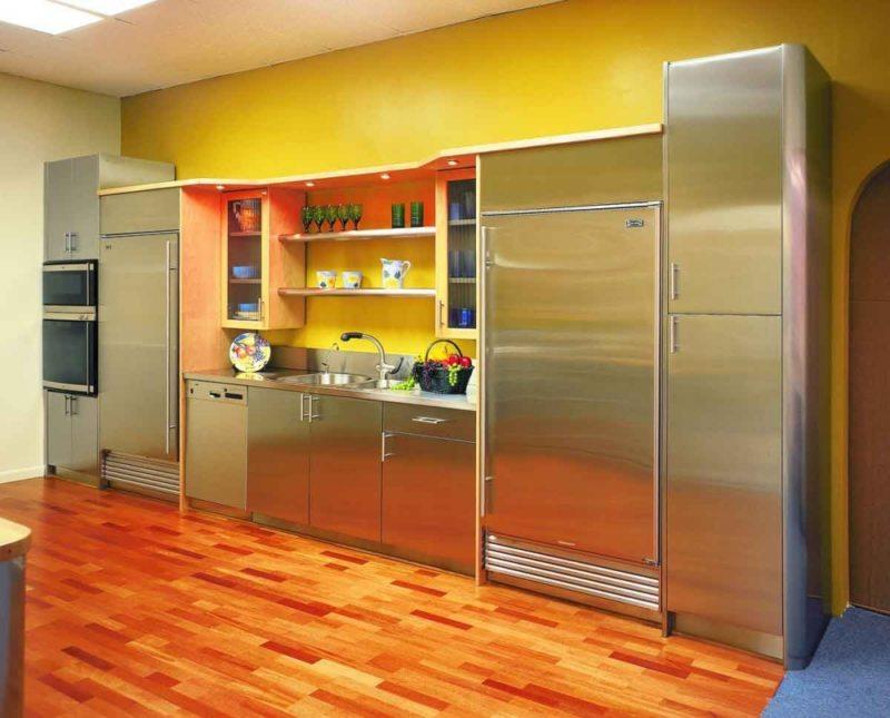 кухня лимонного цвета (33)