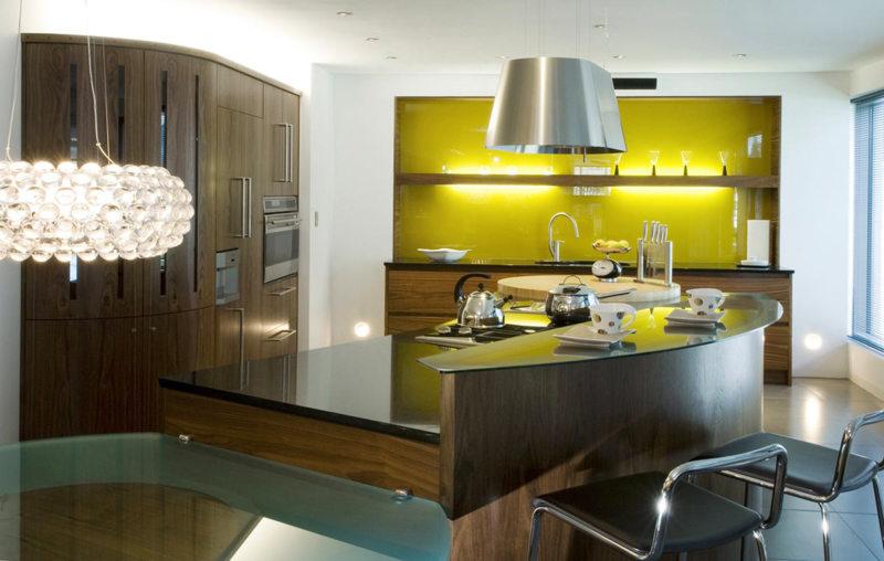 кухня лимонного цвета (34)
