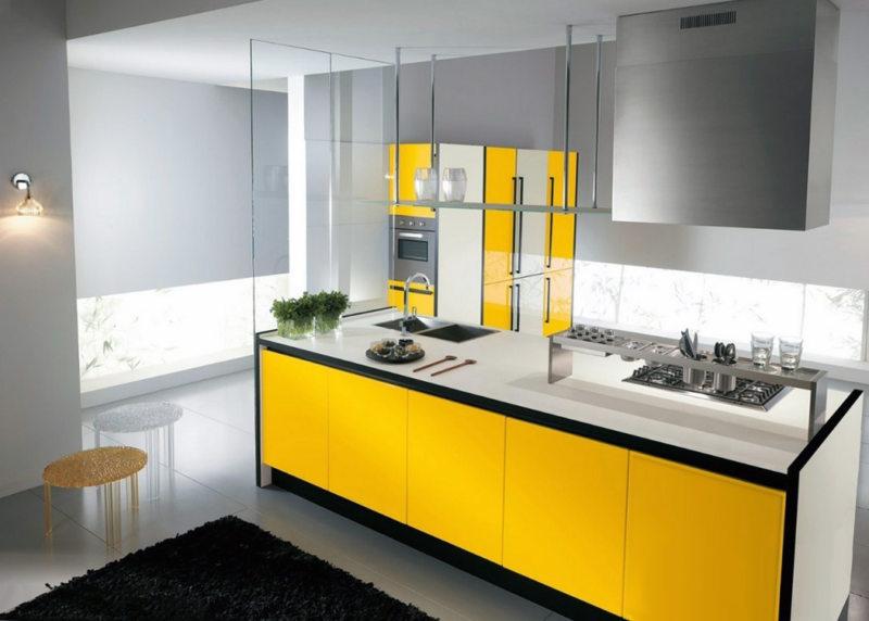 кухня лимонного цвета (39)