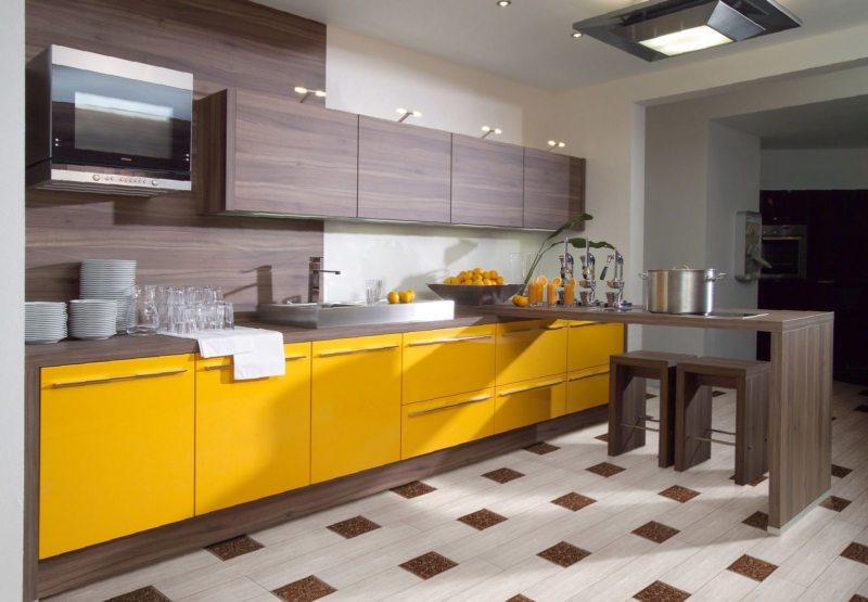 кухня лимонного цвета (54)