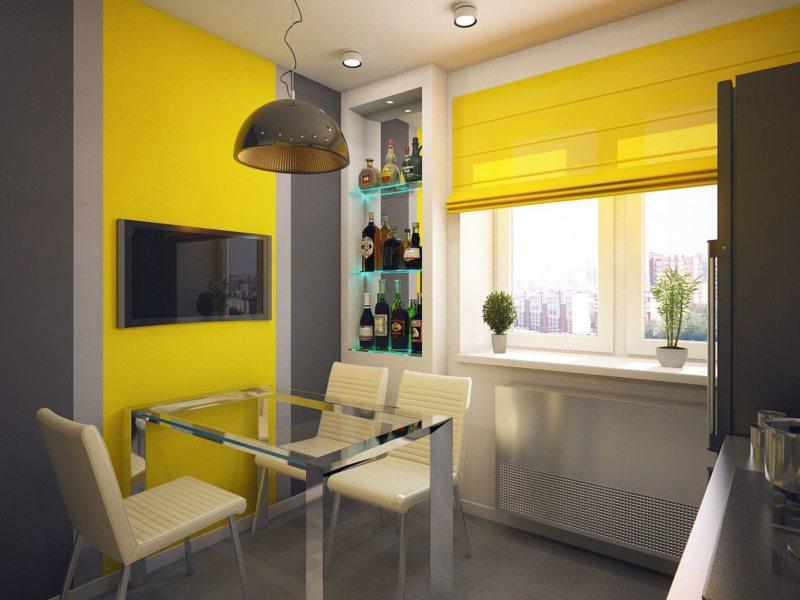 кухня лимонного цвета (6)