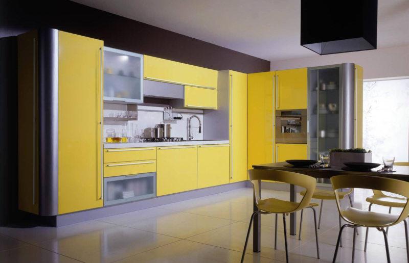 кухня лимонного цвета (7)