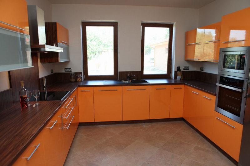 кухня персикового цвета (10)