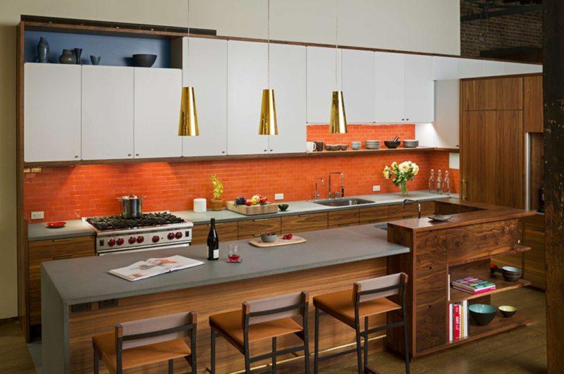 кухня персикового цвета (11)