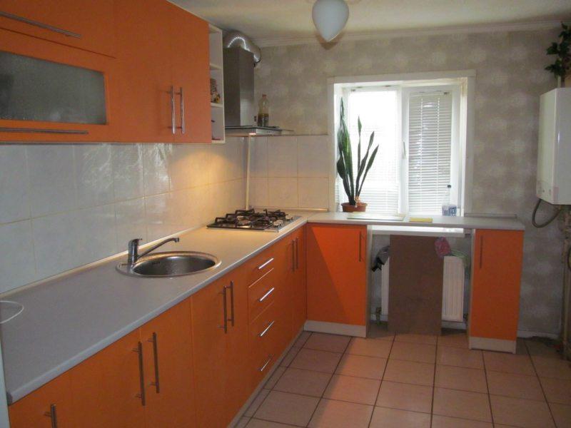кухня персикового цвета (12)
