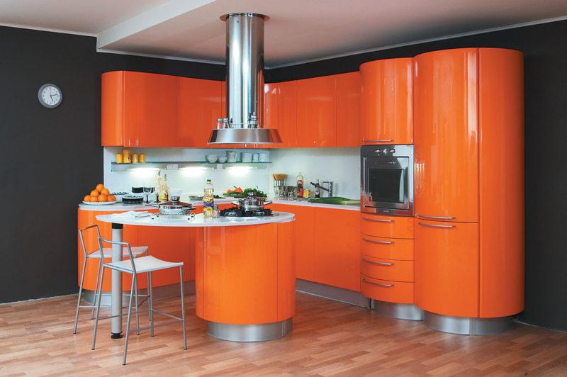 кухня персикового цвета (16)