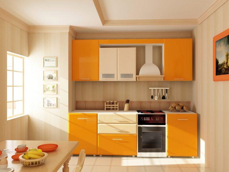 кухня персикового цвета (20)