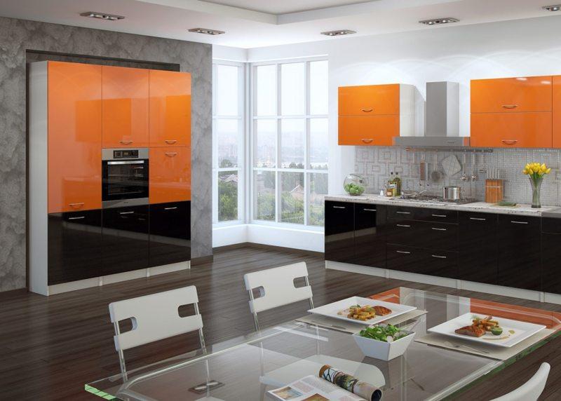 кухня персикового цвета (24)