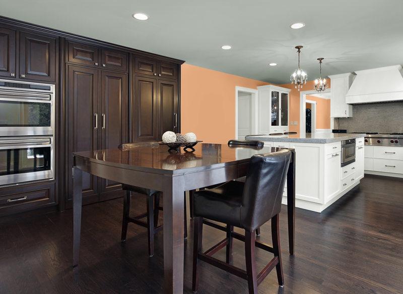 кухня персикового цвета (34)