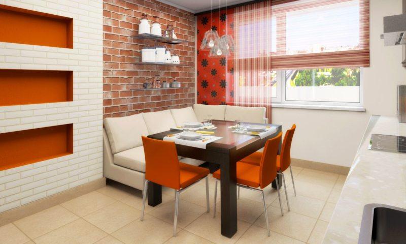 кухня персикового цвета (39)