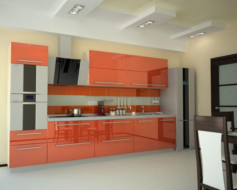 кухня персикового цвета (43)