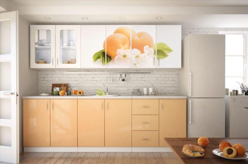 кухня персикового цвета (45)