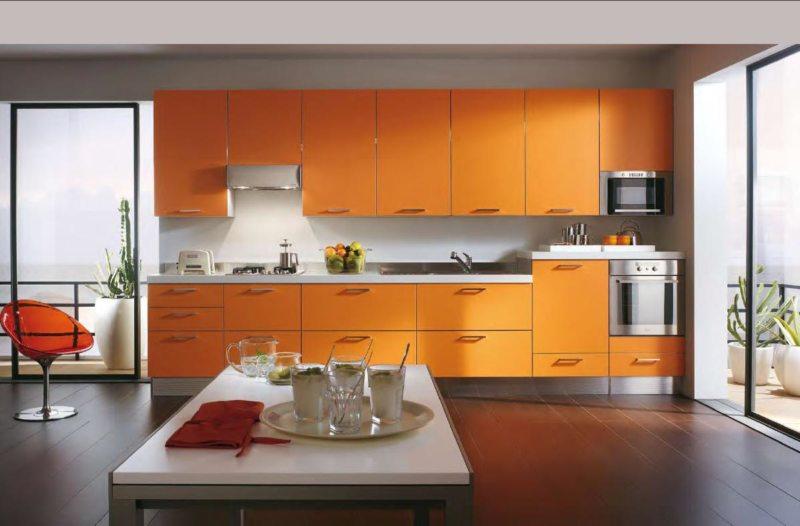 кухня персикового цвета (49)