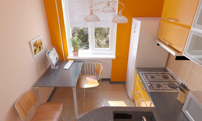 кухня персикового цвета (50)