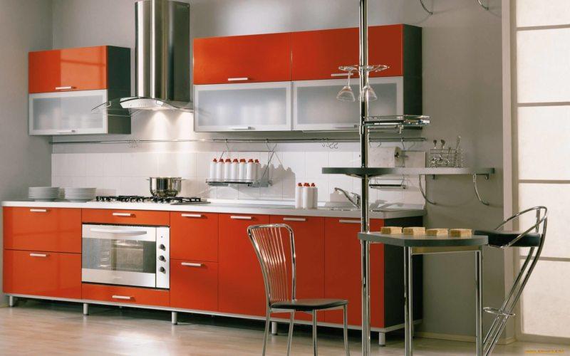 кухня персикового цвета (51)