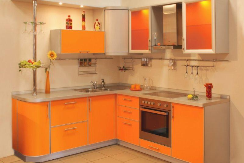 кухня персикового цвета (53)