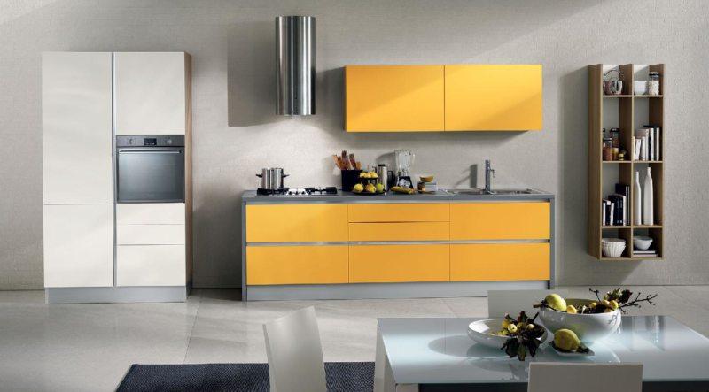 кухня персикового цвета (6)