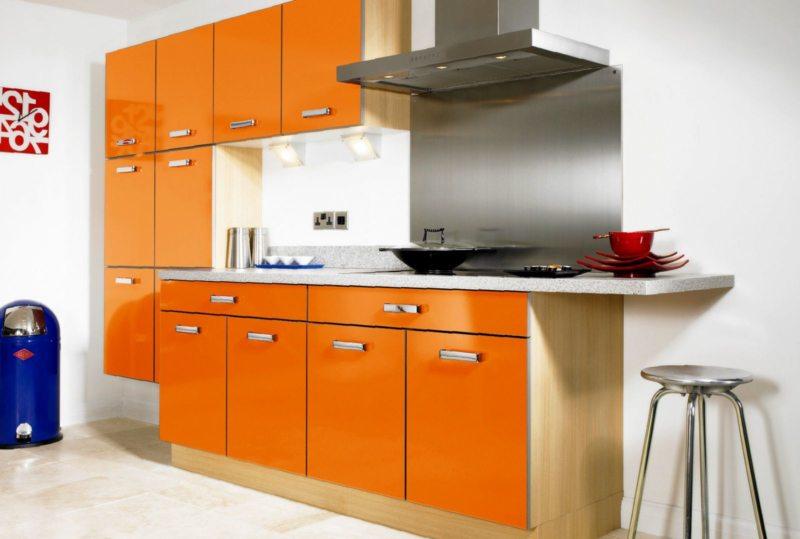 кухня персикового цвета (60)