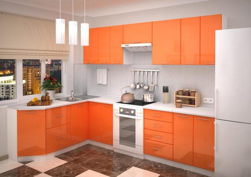 кухня персикового цвета (64)