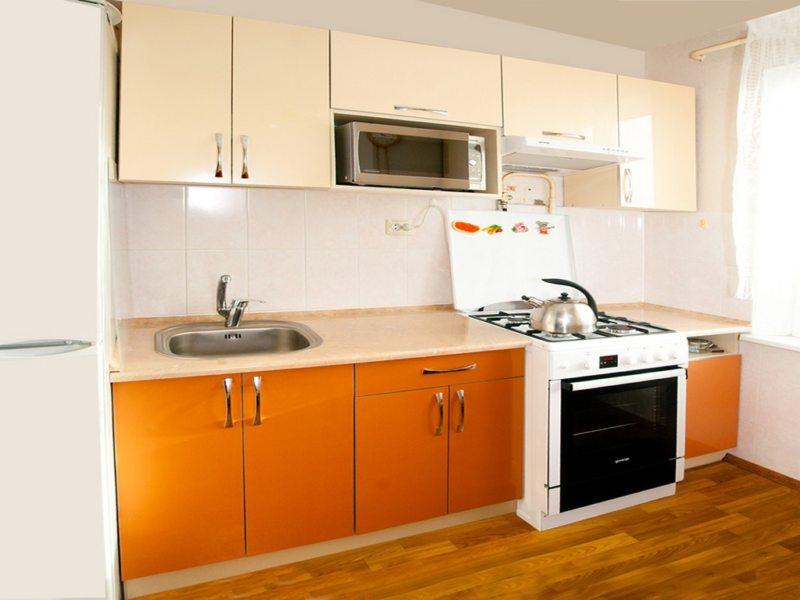 кухня персикового цвета (66)