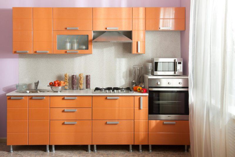 кухня персикового цвета (8)
