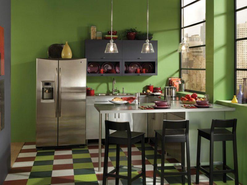 кухня в фисташковом цвете 1 (21)