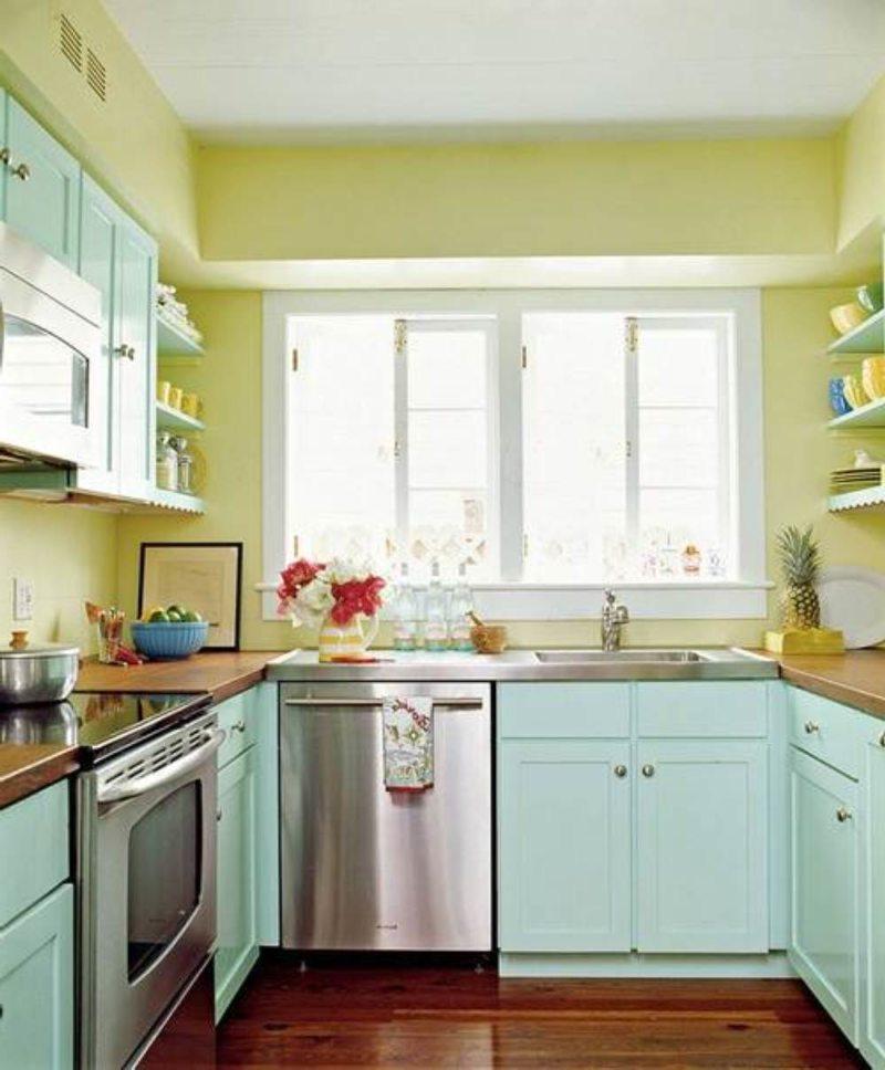 кухня в фисташковом цвете 1 (22)
