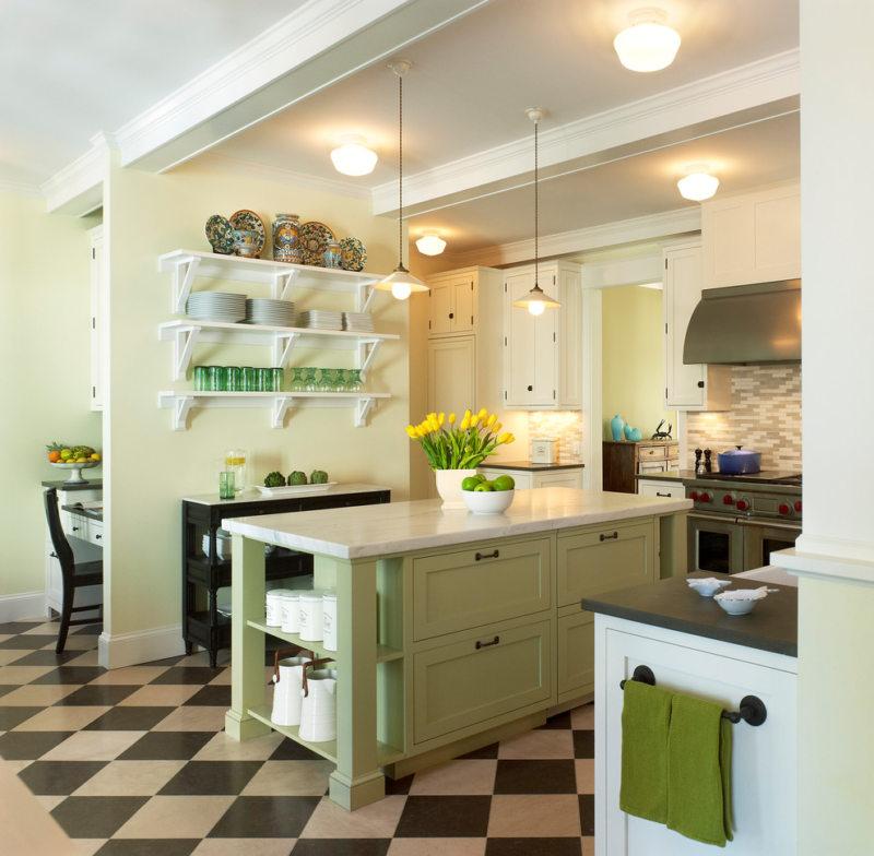 кухня в фисташковом цвете 1 (23)