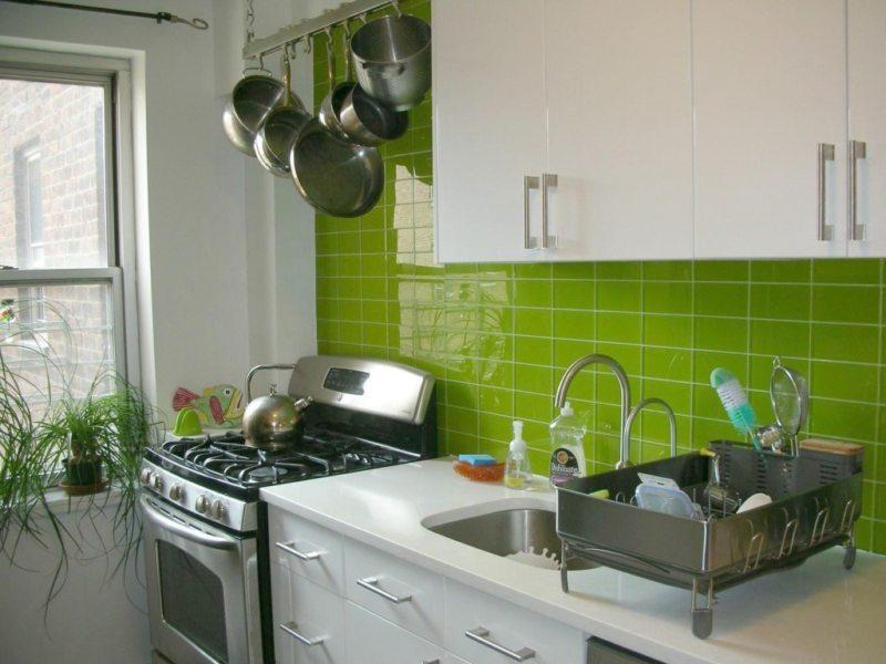 кухня в фисташковом цвете 1 (30)