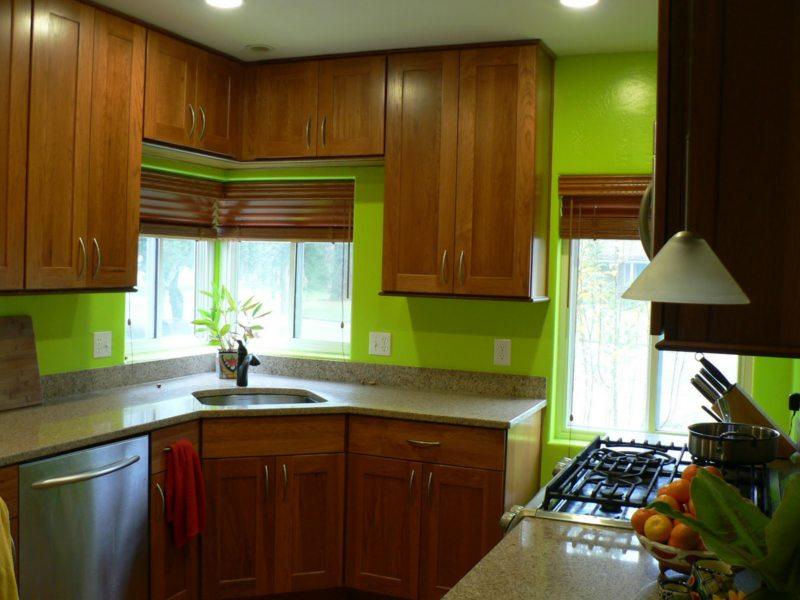 кухня в фисташковом цвете 1 (33)