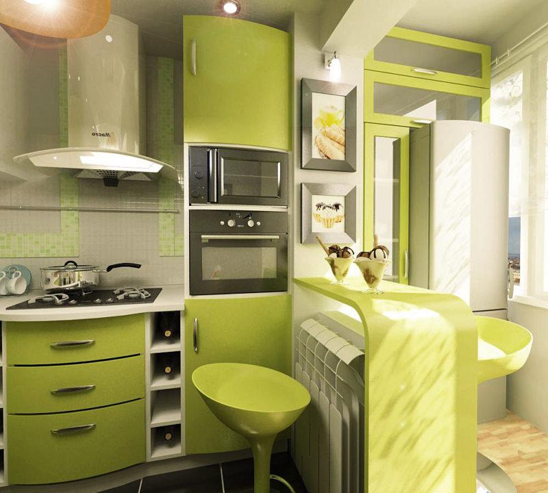 кухня в фисташковом цвете 1 (34)