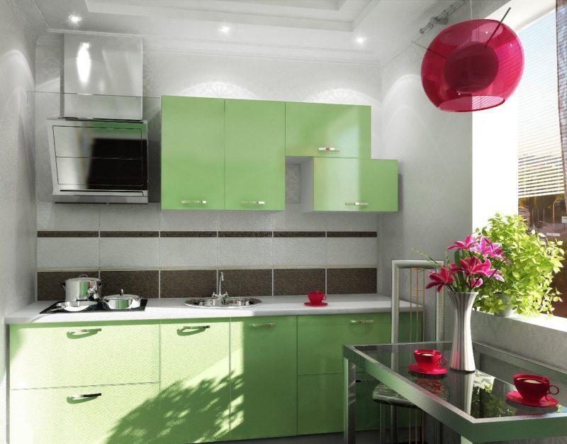 кухня в фисташковом цвете 1 (37)