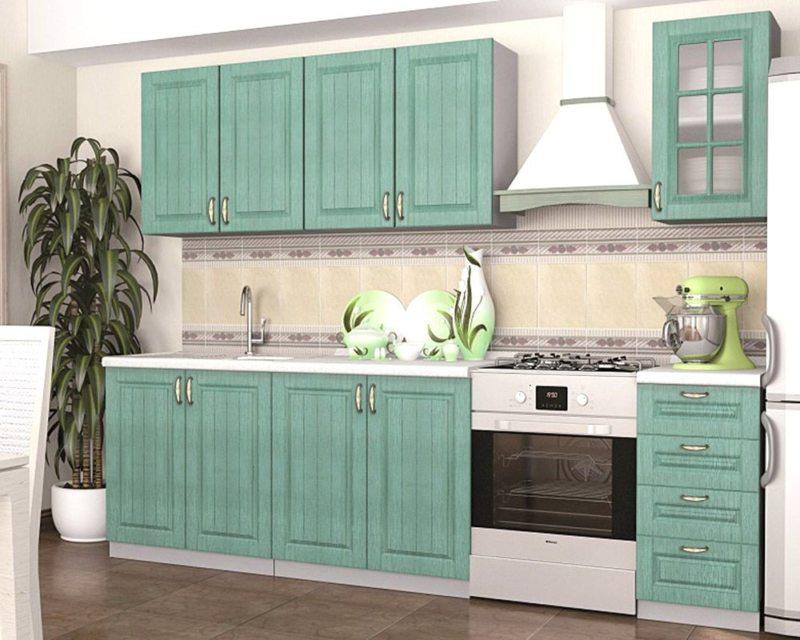 кухня в фисташковом цвете 1 (39)