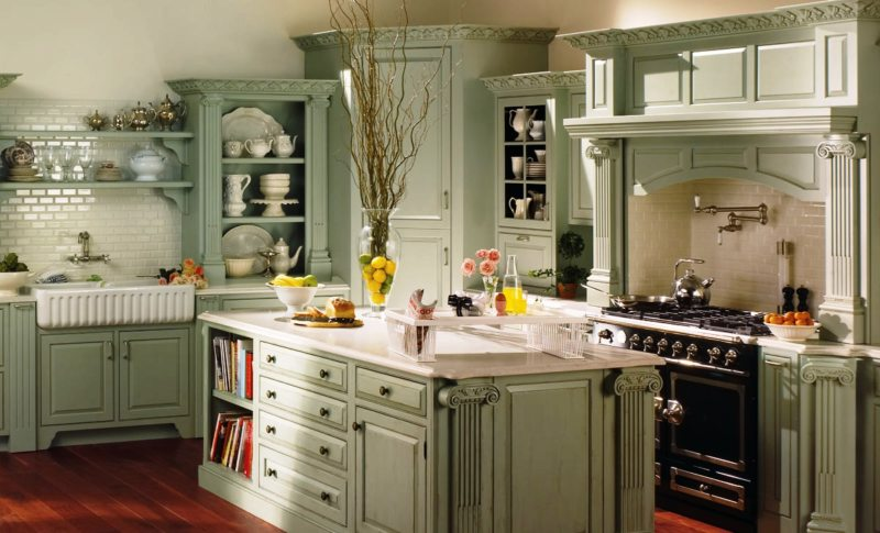 кухня в фисташковом цвете 1 (41)