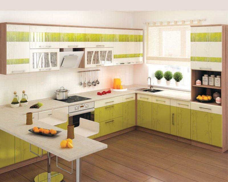 кухня в фисташковом цвете 1 (42)