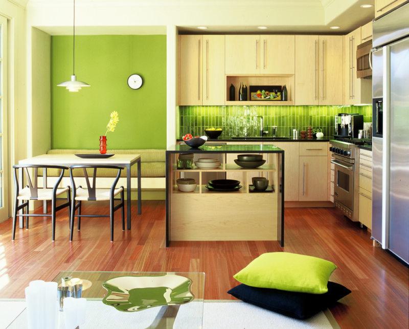 кухня в фисташковом цвете 1 (44)