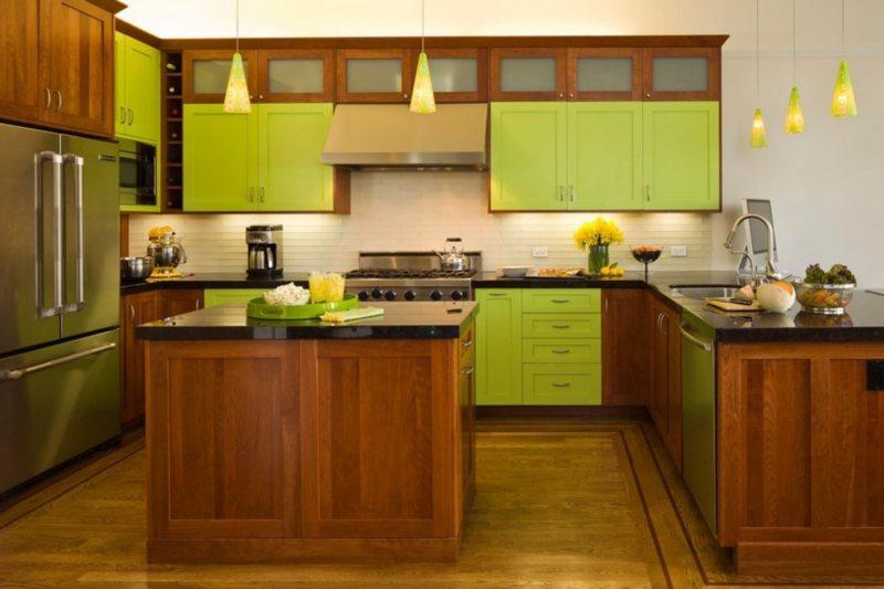 кухня в фисташковом цвете 1 (45)